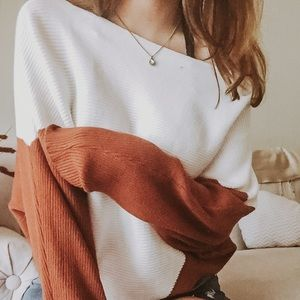 Colorblock Dloman Sleeve Sweater